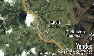 Map of  pgt Putyla