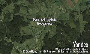 Google map of  village Berezhnytsia