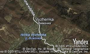 Map of  village Vyzhenka