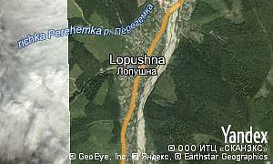 Map of  village Lopushna