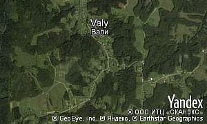Map of  village Valy