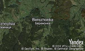 Map of  village Berezhonka
