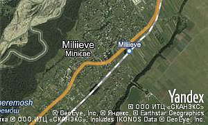 Map of  village Miliieve