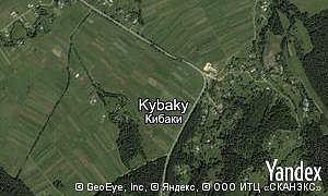 Map of  village Kybaky
