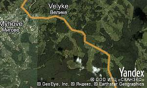 Map of  village Velyke