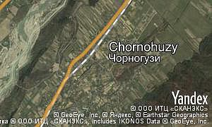 Map of  village Chornohuzy