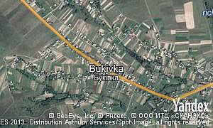 Yandex map of  village Bukivka