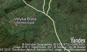 Map of  village Velyka Buda