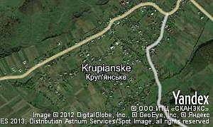 Map of  village Krupianske
