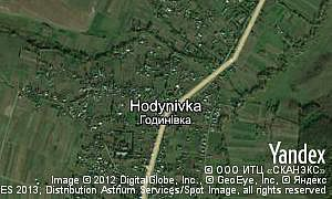 Map of  village Hodynivka