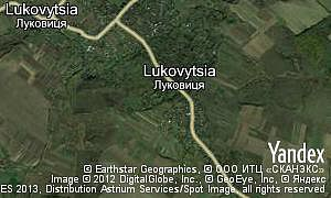 Map of  village Lukovytsia