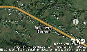 Map of  village Bancheny