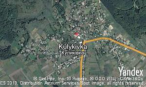 Map of  village Kulykivka