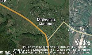 Map of  village Molnytsia