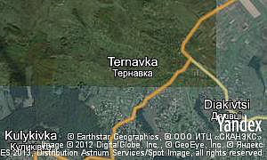 Map of  village Ternavka