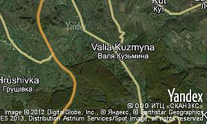 Map of  village Valia Kuzmyna