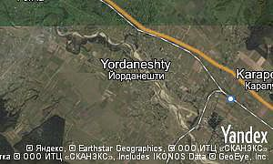 Map of  village Yordaneshty