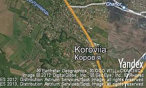Map of  village Koroviia
