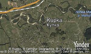 Map of  village Kupka