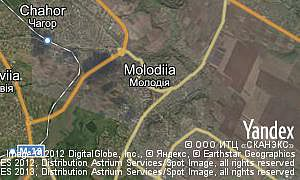 Satellite map of  village Molodiia