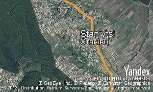 Satellite map of  village Stanivtsi