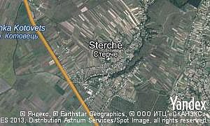 Satellite map of  village Sterche