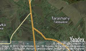 Map of  village Tarashany