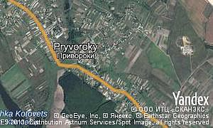 Map of  village Pryvoroky