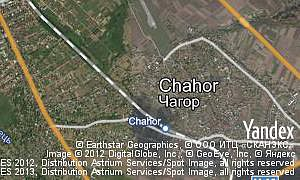 Map of  village Chahor