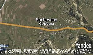 Yandex map of  village Sucheveny