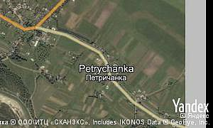Map of  village Petrychanka