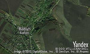 Map of  village Babyn