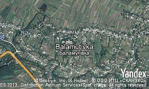 Map of  village Balamutivka