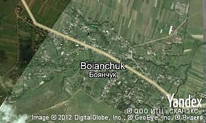 Yandex map of  village Boianchuk
