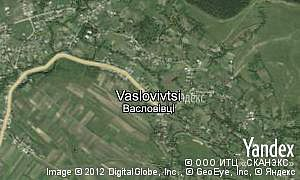 Map of  village Vaslovivtsi