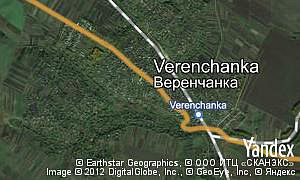 Map of  village Verenchanka