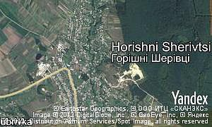 Map of  village Horishni Sherivtsi