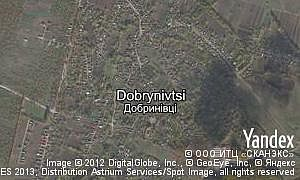 Map of  village Dobrynivtsi
