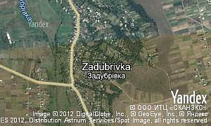 Google map of  village Zadubrivka