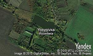 Map of  village Yosypivka