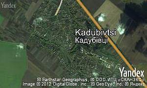 Map of  village Kadubivtsi