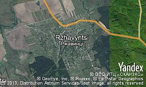 Map of  village Rzhavyntsi