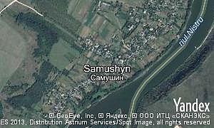 Map of  village Samushyn