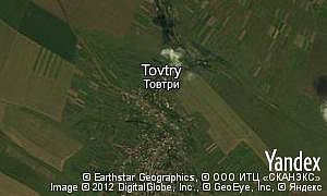 Yandex map of  village Tovtry