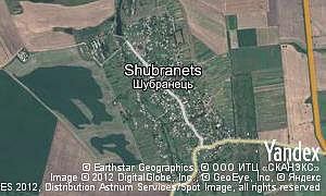 Google map of  village Shubranets