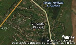 Map of  village Yurkivtsi
