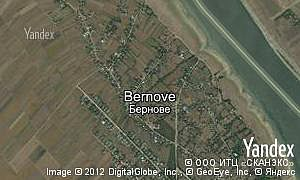 Satellite map of  village Bernove