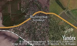 Map of  village Buzovytsia