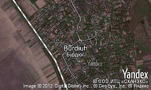 Map of  village Burdiuh