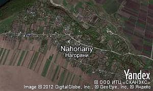 Map of  village Nahoriany